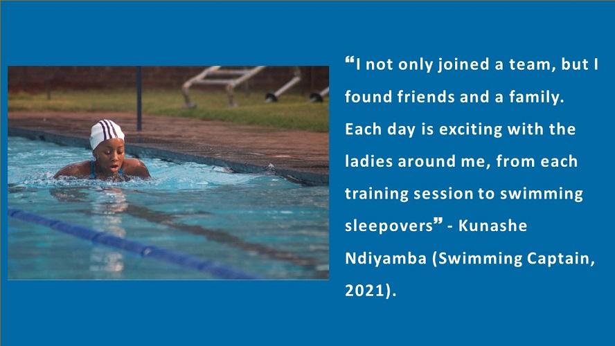 Introducing Kunashe Ndiyamba our 2021 Swimming Captain
